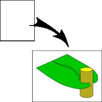 Sheathing leaf